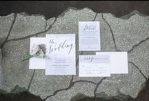 Paper Goods / Invitations, save-the-dates , programs, menu cards, place cards, tabletop signage, etc.