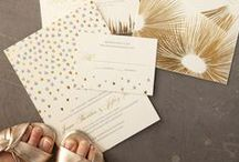 I N V I T E / A collection of all kinds of styles of invites, save-the-dates, menu cards and escort cards