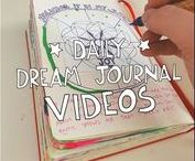Daily Dream Journal Videos / I'm sharing daily videos of my dream journaling practice - what I'm doing and why and how I use my journal to make my dreams real.  Find all the videos archived here: http://www.creativedreamincubator.com/category/daily-dream-journal/