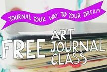 Free Art Journal Class: Dreamtastic Creative Journals / This is an art journal class with a twist: In Dreamtastic Creative Journals I'll teach you how to use your art journal as a tool for making your dreams real.  This course is completely free – everything is accessible right here from this page.  http://www.creativedreamincubator.com/art-journal-class/