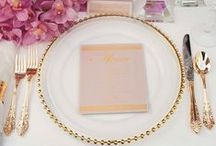 T A B L E T O P / Curated table top place settings that would make Emily Post proud!