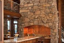 Cabins & Other Unique Homes / Log cabins, homes of rock, on rivers, and more. Outdoorsy decor.