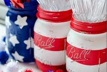 Patriotic Party Ideas / Is it the scent of a hundred barbeques filling the neighborhood air that lets you know it's time to celebrate the 4th of July? Then, get your Block Party on!