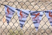 BMX Dirt Bike Birthday Party   Ideas, Decorations and Inspiration / BMX Dirt Bike birthday party ideas, including party decorations, BMX dirt bike themed sweets and treats, printables and party activities.