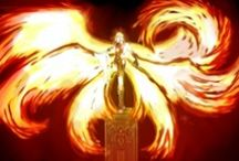 """Seraphic / Fire Angels (Seraphim [Hebrew plural of seraph] means """"burning ones""""."""
