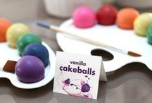 Cake Poppin' and Lockin' / we do love a good cake pop! although, cake balls are just as yummy :)