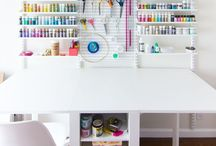 inspiration : Sewing Spaces / every one of you needs a space to make all of your precious projects! find some inspiration here.