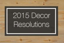 2015 Décor Resolutions / It's that time again. To start over, to create something stunning and new, to redecorate or even rebuild. No matter what you're preparing for 2015 we at Carlisle are here to give a little inspiration. Here are just a few of our favorite styles for 2015! / by Carlisle Wide Plank Floors