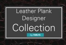 Leather Plank Designer Collection / Discover a luxurious style of wide plank flooring with stunning leather flooring available from Carlisle. / by Carlisle Wide Plank Floors