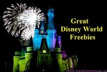 Free Stuff at Disney World / Here are some fun, free things you can get or do at Disney World.  Some require park admission - which isn't free - but others are at the resorts or Downtown Disney and don't cost anything. #DisneyFreebie #Disneyworld #Disney