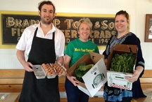 """""""Plow to Plate"""" Partners / We appreciate all of our """"Plow to Plate"""" partners...thank you for using the freshest ingredients straight from our Emily's Produce fields! Buy and eat LOCAL!"""