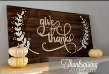 Thanksgiving & Fall Crafts / Fall and Thanksgiving crafts to make for your home or with your family!