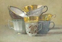 Cups and saucers and teapots