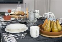 Tablescapes / Every month we create a table setting to show off our great products' design in hopes of inspiring others.  You can buy almost everything you see here in our on line shop, fitzsu.com / by Fitzsu.com