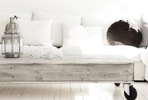 Slip covered sofas / by The Vintage Farmhouse