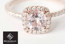Pink Diamond Engagement Rings at Ben Garelick Jewelers, Buffalo NY / Pink diamond engagement rings are rarer than white diamond rings and perfect for the bride who wants a little twist on her engagement ring.