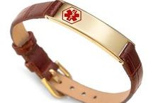 Leather Medical ID Jewelry / by Elegant Medical Alert