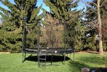 Alley Oop Trampolines / The safest traditional spring based trampolines available. With full safety padding and safety enclosure included, Alley Oop trampolines are the best choice for backyard fun.