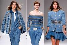 ♥ Denim / Denim ist ein Dauerrenner, denn kaum eine Saison kommt ohne den blauen Stoff aus. Ob als Jeanshose, Jeansrock oder Jeanssneakers - wir lieben Denim und zeigen dir hier die neusten Trends und Kombinationsmöglichkeiten!
