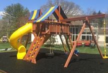 Superior Play Systems Safer Play Zone Designs / When looking for that safer addition to your backyard playset, Superior Play Systems offers our Rubber Mulch and Border Curbs for a Safer Play Zone