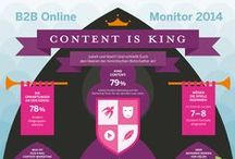 B2B Online-Marketing / Facts and infographics about B2B Online-Marketing  / by creative360 //