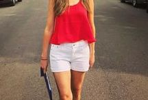 My Summer Style / Summer Loving - Sun Dresses, Short Shorts, Tank Tops and Bathing Suits,  outfit ideas and style tips