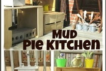 Outdoor (Mud) Kitchen / Ideas for the EYFS / Early Years / ECE / Preschool / Kindergarten outdoor classroom.