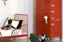 Kinderkamer rood ★ kid's room red / Inspiratie en sfeerfoto's voor baby- en kinderkamers met rode accenten en accessoires ★ ideas for decorating kid's rooms and nurseries with red