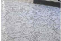 DIY: Floorcloths & stencils