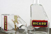 Vintage Alcohol Branding on Glass