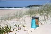 Ocean Tide & Sea Salt - Candle of The Week / Salty skin and beach hair are the norm around these parts and there is no better remedy to cool down during this heatwave than to submerge yourself in the crystal clear ocean surrounding beautiful Byron Bay. Returning home sun-kissed with a collection of shells and sand between your toes, you can swap power lines for palm trees and keep those beach vibes going long into the afternoon by burning Ocean Tide & Sea Salt by Paddywax.