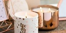 Crazy about Copper / Copper inspiration, copper details, copper candles, copper in the home, copper in the office.