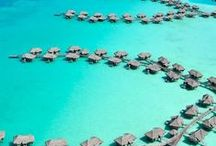 Summer Destinations / Tropical, blue and summery destinations.  A place to let your mind wander.
