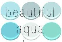Aqua, Teal & Turquoise