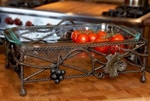 Kitchen & Dining Accessories / Beautifully crafted Wrought Iron Cookbook stands, serveware, wine accessories, baker's racks, carts, islands, work stations and more...