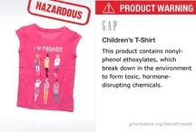 Toxic Threads / NOTICE: It is important to note that the levels of chemicals detected in these clothes are not known to constitute any direct health risk to the wearer. However, these chemicals have a range of hazardous effects on human health and other organisms when released into the environment. The only way to deal with them is for brands to stop using them completely and find safer alternatives.  / by Greenpeace