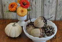 Fall Decor / Pumpkin mantels, leafy tablescapes, inviting fall porches, and harvest-y decor to beautiful your space for autumn.