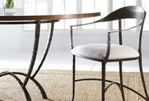 Wrought Iron Dining Chairs / Hand forged iron dining room chairs available at timelesswroughtiron.com