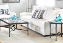 """Omega"" Craftsman Style Iron Tables"