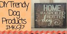 Dog Products For a Trendy Home / Do It Your Self Projects For a Trendy home and Trendy Dog.  Make your dogs accessories or build a dog bed a feeder or make a gorgeous sign. Super cute projects. IMK9pets