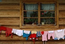 """Laundry / """"My second favorite household chore is ironing. My first being hitting my head on the top bunk bed until I faint."""" – Erma Bombeck"""
