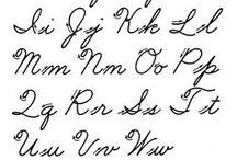 cursive writing / by ♡∞☯☮ॐ