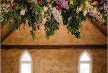Ceremony / Wedding Ceremony, Altar, Pews, Flowers, Aisle, Petals, Programs