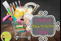 Creative Back to School Ideas / Creative ideas for back-to-school. Ideas, resources, activities, and freebies to make your back-to-school time fabulous!