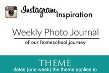 Instagram Weekly Photo Journal / A weekly photo journal inspiration for Instagram to document our homeschool efforts. / by Hip Homeschool Moms