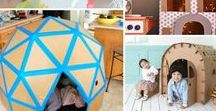 Cardboard Box Fun / Ways to use cardboard for learning, play, and functional purposes! Great ideas for parents, caregivers, teachers, kids, and kids-at-heart! Creative ways to reuse and repurpose cardboard.