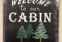 Cabin Chic Decor / Cabina de Mariposa  Cabin Renovation and Decorating