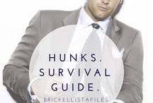 Hunks. NFL Players. / NFL survival guides + a few hunks.