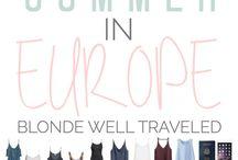 Europe Trip Inspo