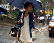 Rain. / A board capturing the joys of rain.